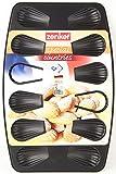 Zenker Madeleines Backblech, Backform mit Antihaftbeschichtung für 12 Bärentatzen, Form in schwarz für kleine Snacks (Kuchenform: ca. 390x260x10 mm), Menge: 1 Stück