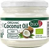 BIOASIA Bio Kokosöl, kaltgepresst, naturbelassen ohne Zusatzstoffe, veganes Fett zum Kochen, Braten und Backen, auch als Naturkosmetik verwendbar, 100 % Bio, 1 x 250 ml