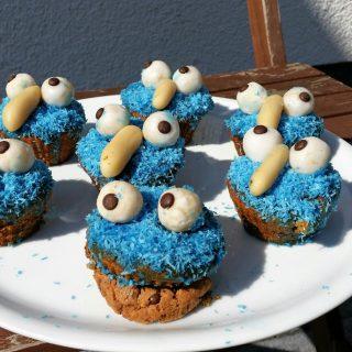 Krümelmonster Muffins glutenfrei mit Schokotropfen