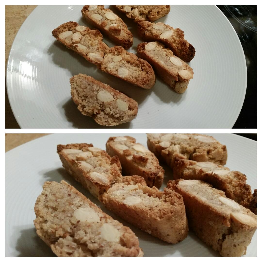 Cantuccini glutenfrei und vegan Collage