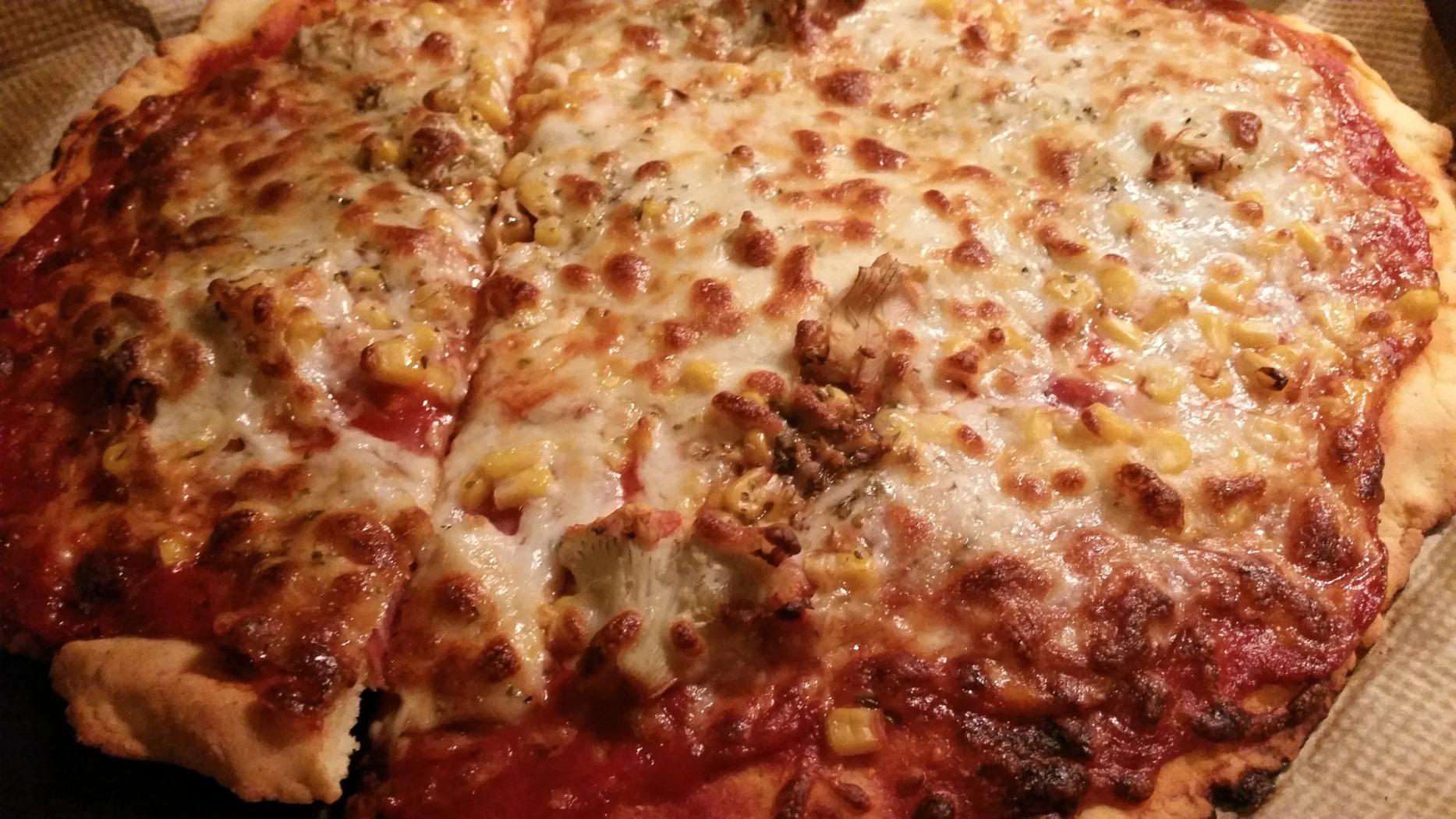 Glutenfreie Pizza mit-Quark Öl Teig