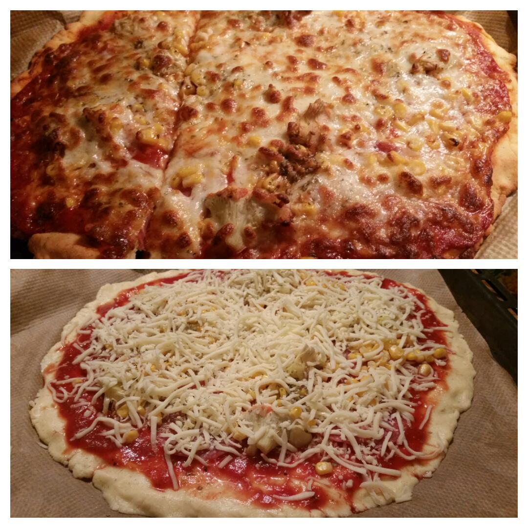 Glutenfreie Pizza mit Quark Öl Teig Collage