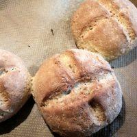 Helle Brötchen mit Reisflocken glutenfrei vegan