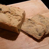 Saftiges Kürbiskernbrot mit Reiskleie, glutenfrei und vegan