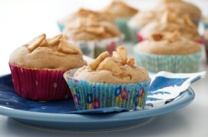 Apfel Muffins glutenfrei mit Maismehl, Kartoffelmehl und Reismehl