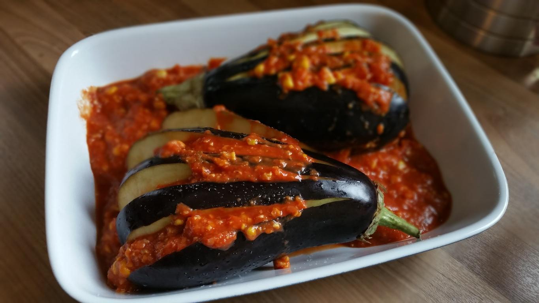 Auberginen aus dem Backofen glutenfrei und vegan1