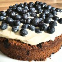 Blaubeer-Mandel-Mohn Kuchen