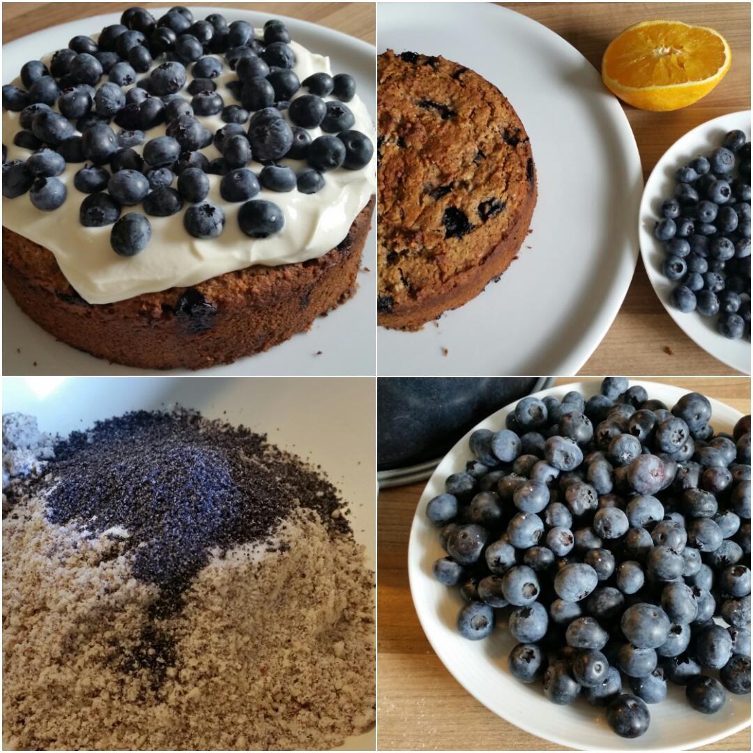 Blaubeer-Mandel-Mohn-Kuchen-Collage