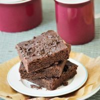 Brownies glutenfrei backen mit Reismehl
