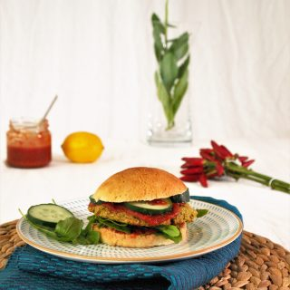 Falafel Burger glutenfrei