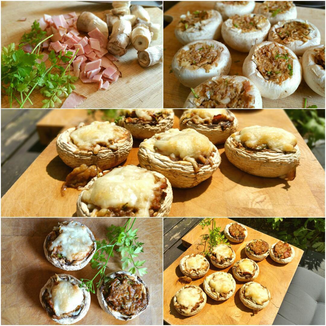 Gefüllte Champignons glutenfrei Collage