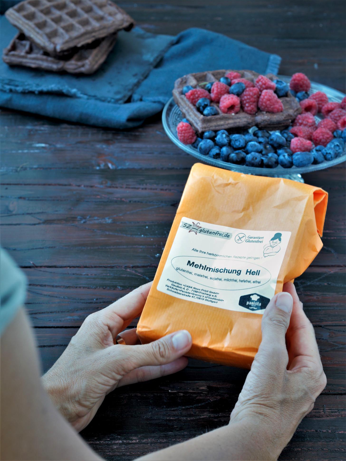 Glutenfreie Schokowaffeln mit der Mehlmischung von Panista2
