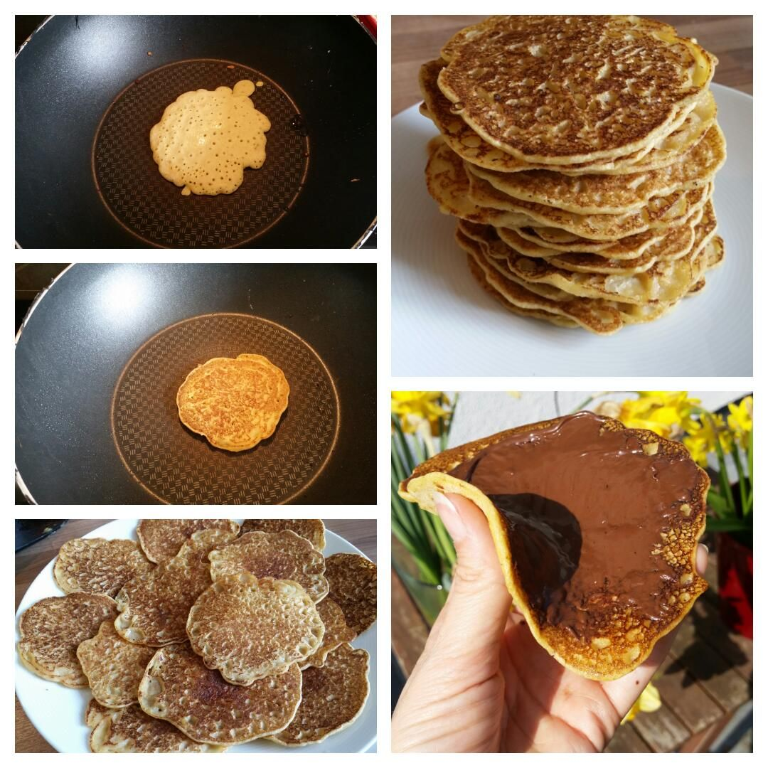 Glutenfreie Pfannkuchen Collage