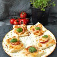 Glutenfreier Blätterteig mit Tomaten, Fingerfood2