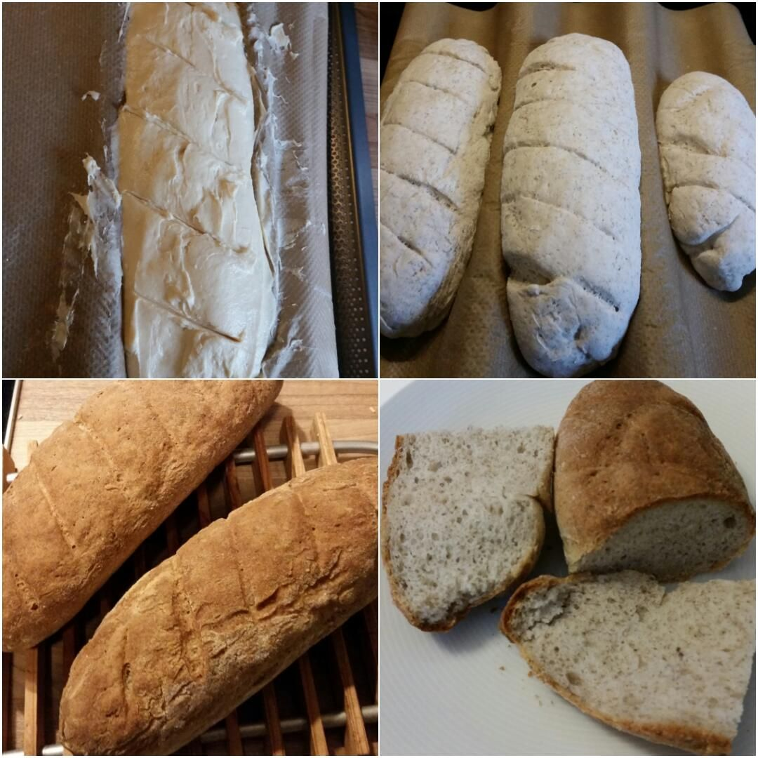 Glutenfreies Baguette Collage