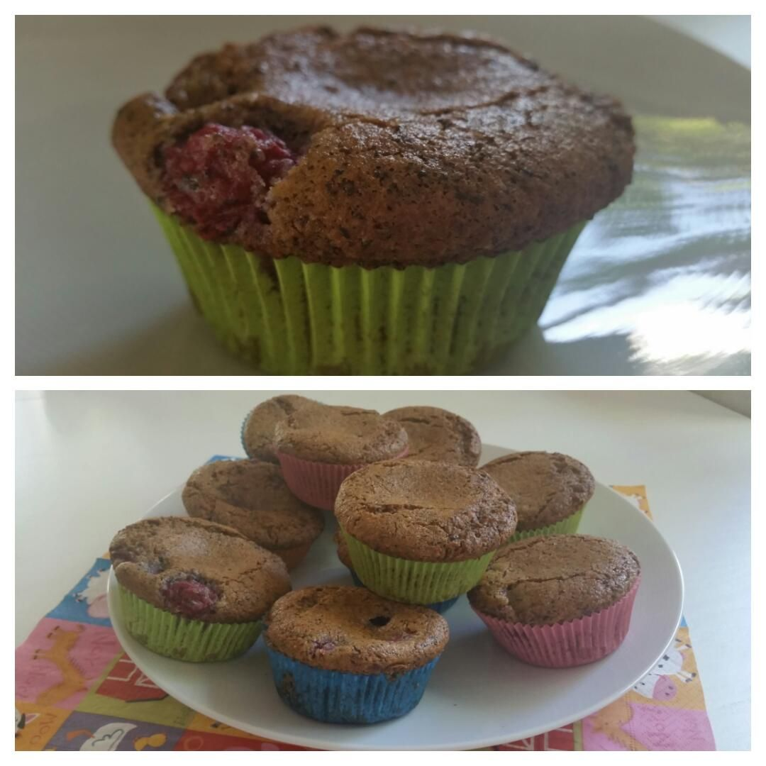 Himbeer-Mohn-Muffin-Collage
