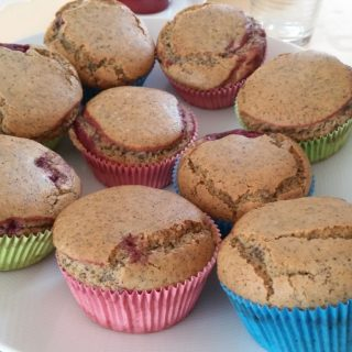 Himbeer-Mohn-Muffins glutenfrei und vegan