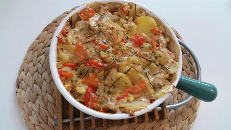 Kartoffel-Gemüse-Gratin