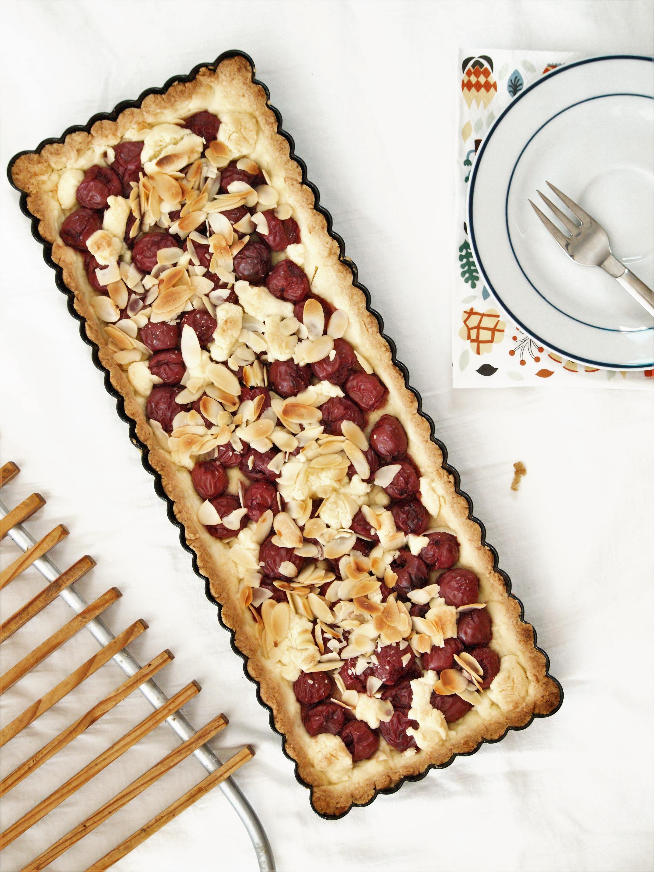 kirsch tarte glutenfrei backen mit reismehl und maismehl. Black Bedroom Furniture Sets. Home Design Ideas