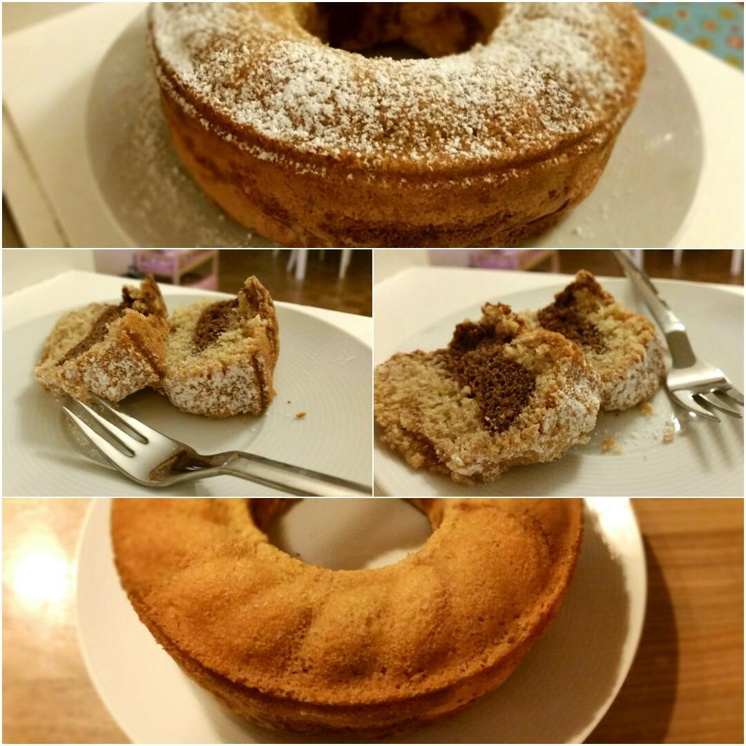 Glutenfreier Marmorkuchen Collage