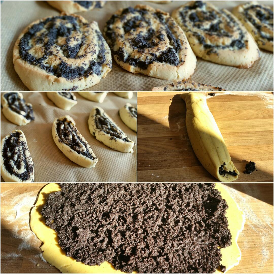 Mohnschnecken glutenfrei und vegan Collage1
