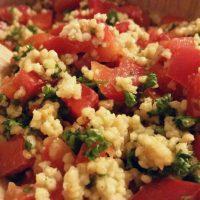 Paprika Salat vegan und glutenfrei