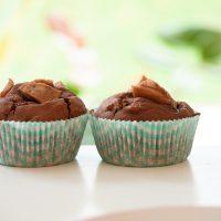 Schoko Birnen Muffins vegan und glutenfrei mit Reismehl