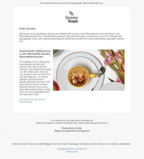 Newsletter Beispiel Glutenfrei Rezepte