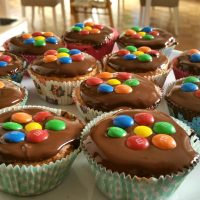 Vanille Muffins glutenfrei mit Schokolinsen