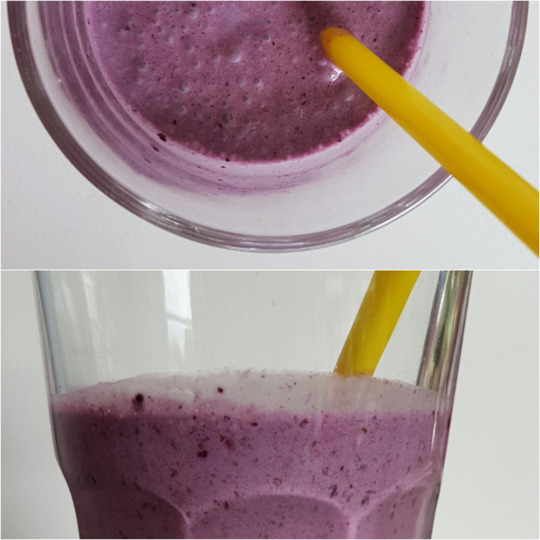 Veganer Blaubeer Smoothie Collage2