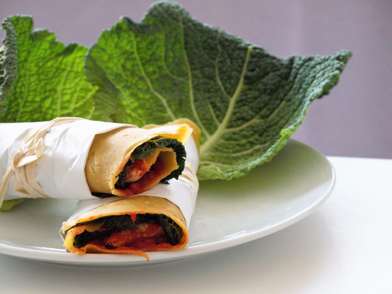 Wrap glutenfrei mit Maismehl selber backen