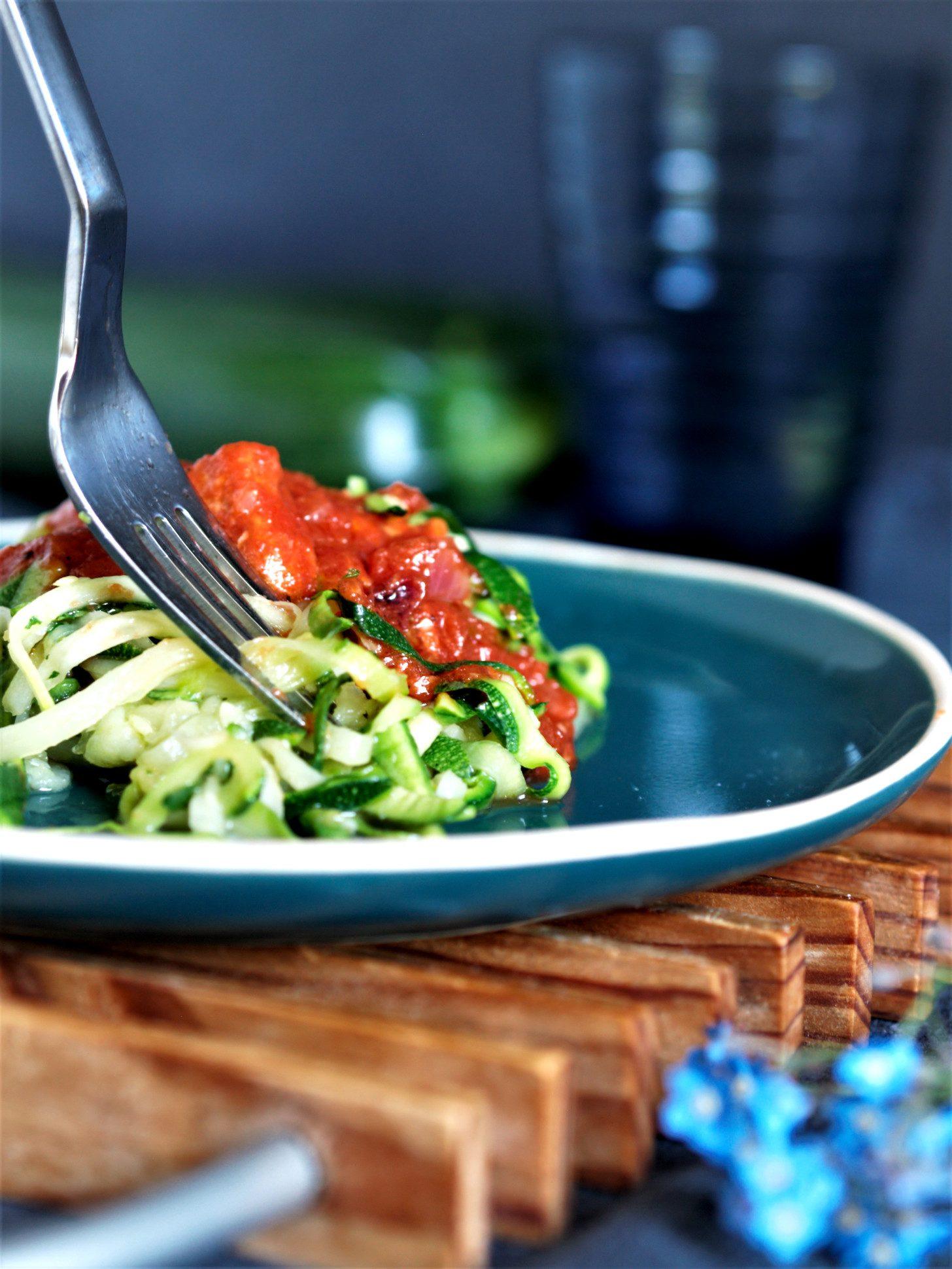 Zucchini Nudeln glutenfrei