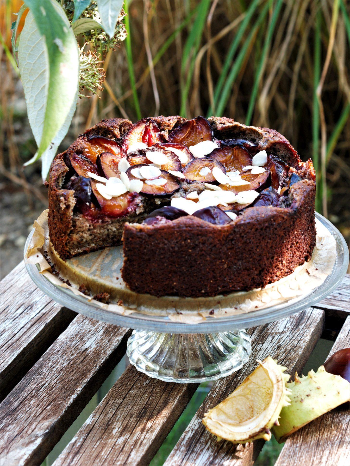 Zwetschgenkuchen Low Carb glutenfrei