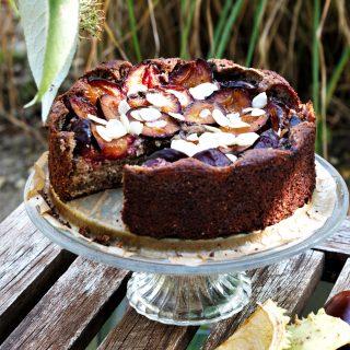 Zwetschgenkuchen Low Carb und glutenfrei